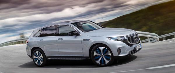 Mercedes tamamen elektrikli ilk modeli EQC' yi tanıttı.