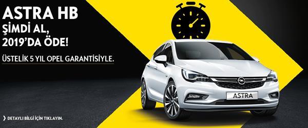 Opel'i Şimdi al 2019'da öde